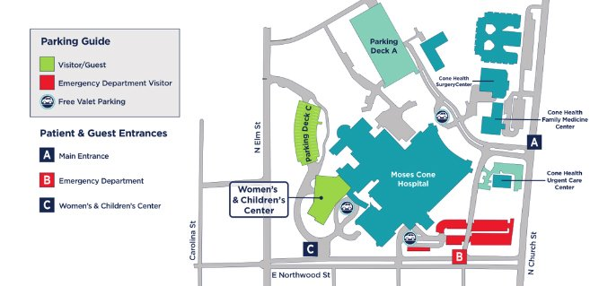 Women's and Children's Center Map